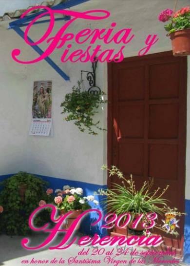 Cartel Feria y Fiestas Herencia 2013 - Presentado el programa de actos de la Feria y Fiestas de La Merced