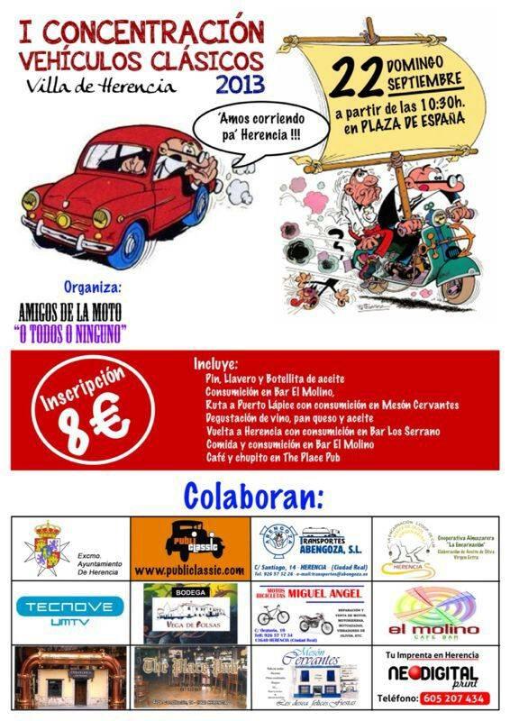 I Concentración de vehículos clásicos Villa de Herencia 2013 1