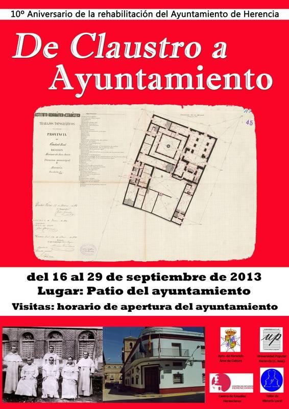 "cartel exposicic3b3n de claustro a ayuntamiento - Exposición en el ayuntamiento: ""De claustro conventual a patio consistorial"""