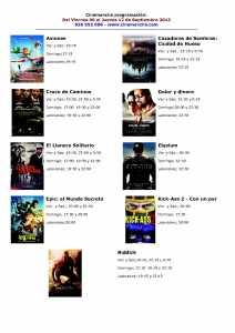 cartelera de multicines cinemancha del 06 al 12 de septiembre