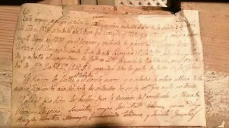 Documento histórico sobre la construcción de órgano parroquial de Herencia