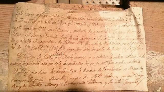 documento historico sobre la construccion de organo parroquial de herencia - Datos históricos del órgano parroquial de Herencia