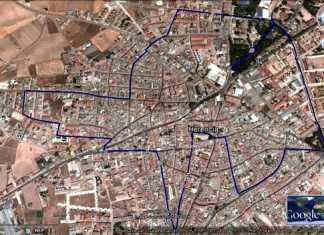 Circuito urbano de la XVII Carrera Popular Villa de Herencia
