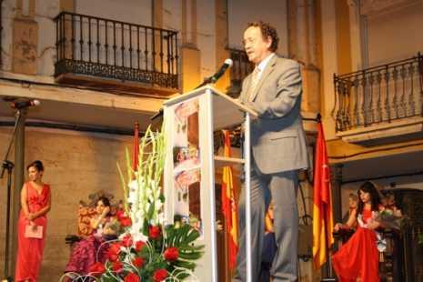 Diego García Muela durante su pregón de la Feria y Fiestas de Herencia