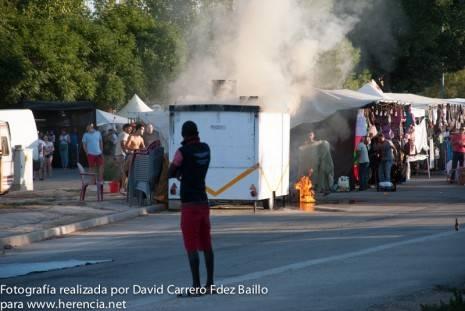 incendio feria y fiestas 2013 herencia DSC 01143 465x311 - Incendio en uno de los puestos de la Feria y Fiestas 2013