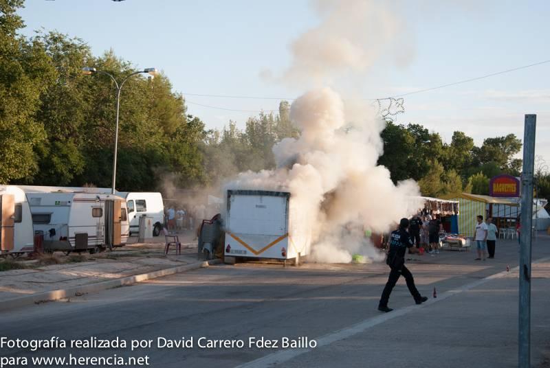incendio feria y fiestas 2013 herencia DSC 0141 - Incendio en uno de los puestos de la Feria y Fiestas 2013