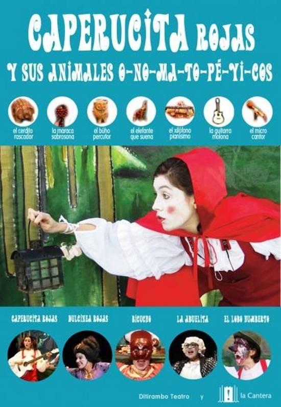 caperucita rojas y sus animales onomatopeyicos - Teatro infantil para los más pequeños este 31 de octubre y también en noviembre y diciembre