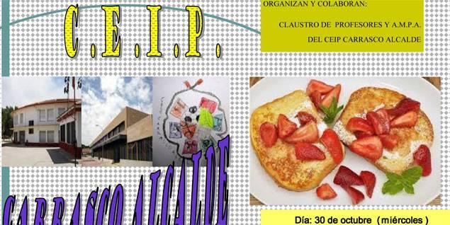 desayuno solidario en herencia - El CEIP Carrasco Alcalde organizo un desayuno saludable solidario