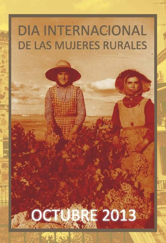 diptico una g - Actos para el Día de las Mujeres Rurales 2013