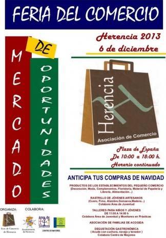 Cartel Feria del Comercio de Herencia 324x465 - Feria del comercio al aire libre en Herencia