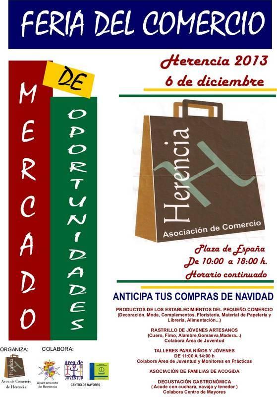 Cartel Feria del Comercio de Herencia - Feria del comercio al aire libre en Herencia