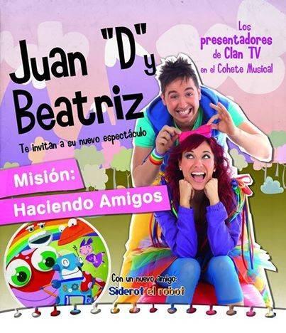 """Ciudad Arco Iris Misión Haciendo Amigos - Juan """"D"""" y su Ciudad Arco Iris actuarán en Alcázar de San Juan"""