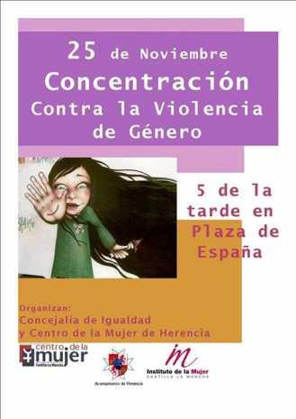 Concentración contra la Violencia de Género en Herencia