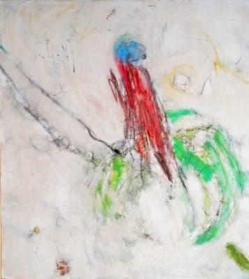 """Sobre la tierra mixta.madera 122x110 cms - Martín Viveros, primer premio en el XVI Certamen Nacional de Pintura """"Frida Kahlo"""""""