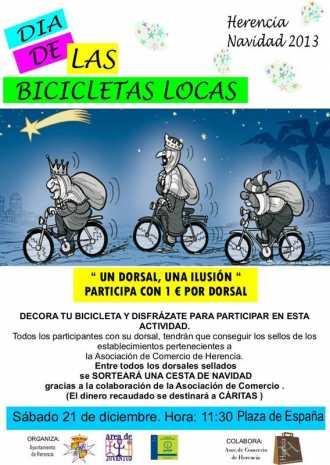 Bicicletas Locas y solidarias de Herencia 330x465 - Juventud prepara el día de las bicicletas locas y solidarias