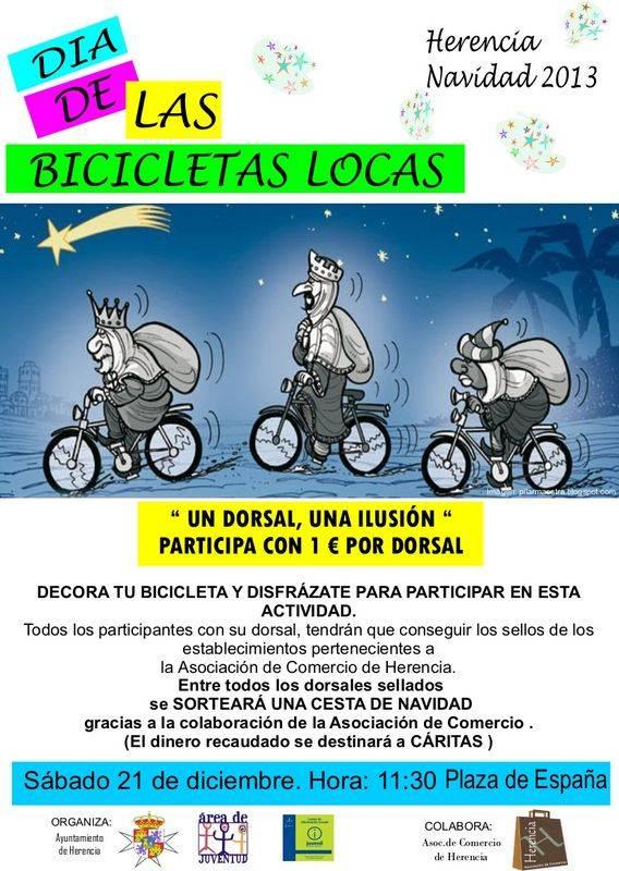 Bicicletas Locas y solidarias de Herencia - Juventud prepara el día de las bicicletas locas y solidarias