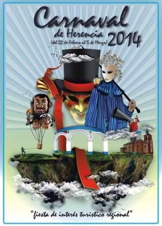 Cartel anunciador Carnaval de Herencia 2014 333x465 - Jesús Gómez-Lobo es el autor del cartel para el Carnaval 2014