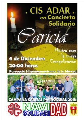 Cartel concierto de Cis Adar en Madrid