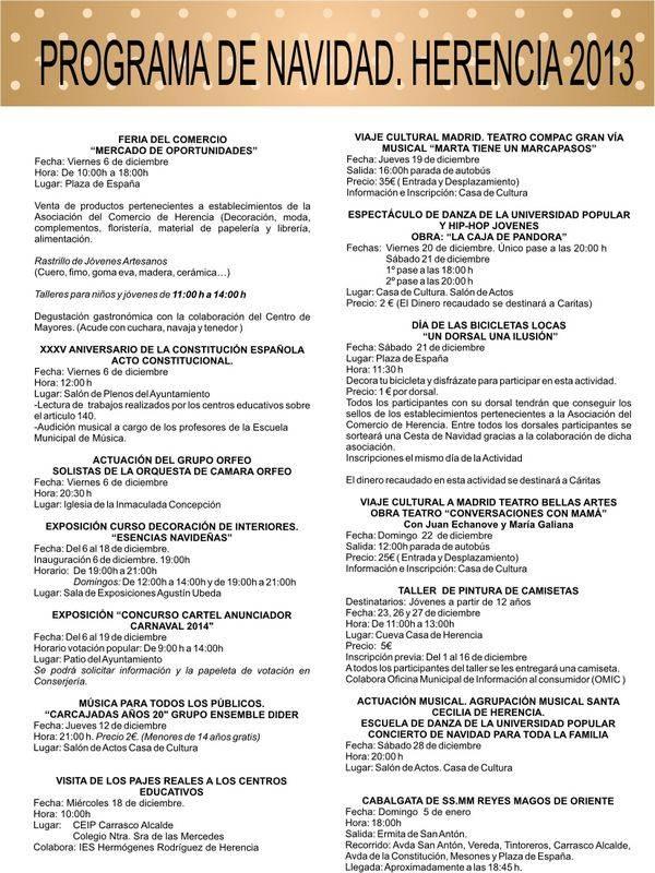 Navidad 20131 - Progama de Navidad 2013 en Herencia