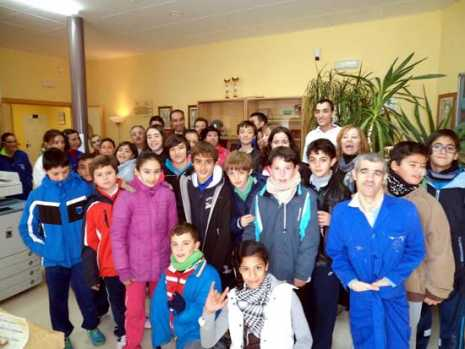 Encuentro de usuarios del Centro Ocupacional y alumnos del CEIP Carrasco Alcalde de Herencia