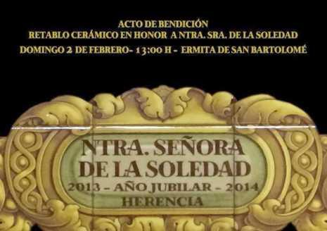2014 02 02 Acto de bendici%C3%B3n de retablo cer%C3%A1mico de El Santo 465x328 - Bendición del retablo cerámico de Nuestra Señora de la Soledad