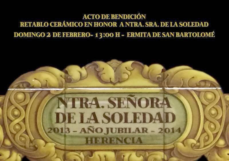 2014 02 02 Acto de bendición de retablo cerámico de El Santo - Bendición del retablo cerámico de Nuestra Señora de la Soledad