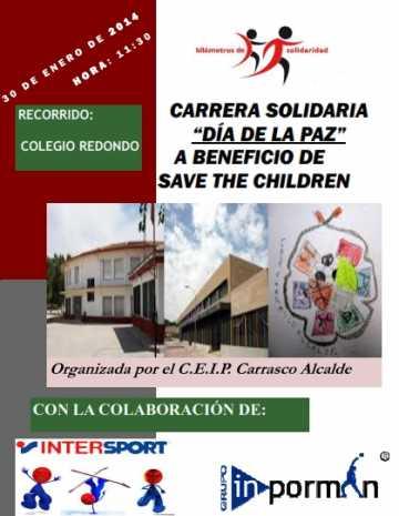 Carrera Solidaria D%C3%ADa de La Paz en el Colegio Carrasco Alcalde de Herencia 360x465 - El CEIP Carrasco Alcalde recorrerá 'Kilómetros de solidaridad' el día Escolar de la Paz