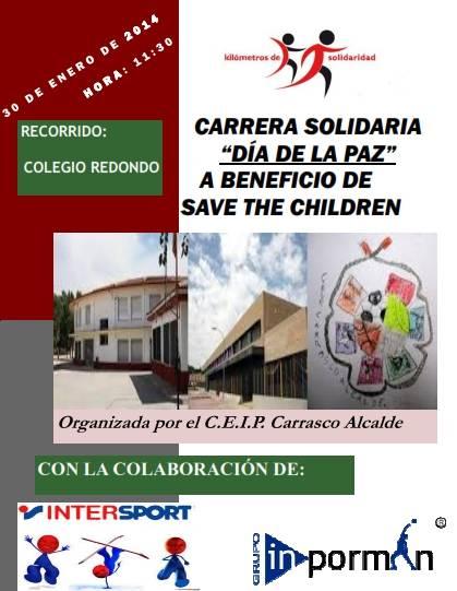 Carrera Solidaria Día de La Paz en el Colegio Carrasco Alcalde de Herencia - El CEIP Carrasco Alcalde recorrerá 'Kilómetros de solidaridad' el día Escolar de la Paz