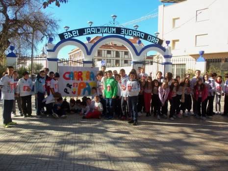 Herencia carrera solidaria de la paz ceip carrasco alcalde 1 465x348 - 370 euros recaudados por el colegio Carrasco Alcalde en favor de Save the Children
