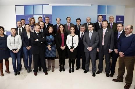Marta García de la Calzada en la firma de convenios del Mapa de Suelo Industrial II
