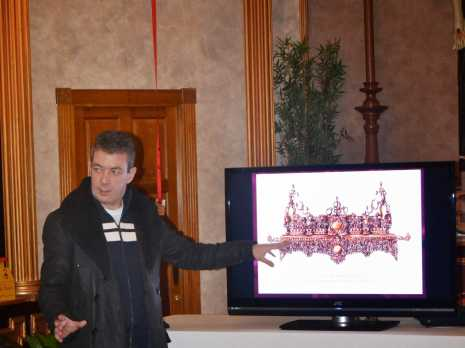 """Presentaci%C3%B3n Trono Cristo de la Columna de Herencia Ciudad Real 465x348 - Estrenos de la Hermandad de """"El Santo"""" de Herencia"""