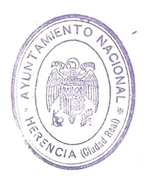 Sello usado en el ayuntamiento de Herencia en 1940