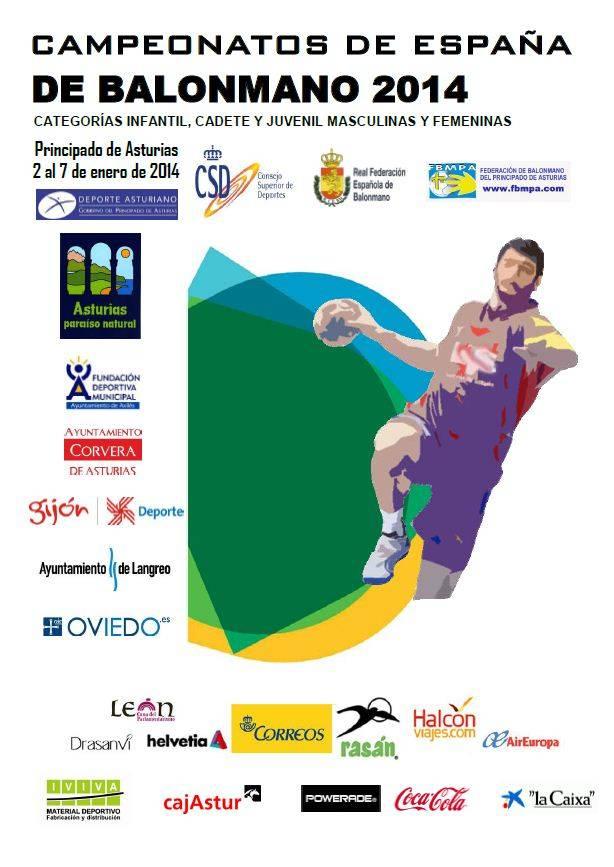 cartel campeonato nacional de balonmano - Varios herencianos en los Campeonatos de España de Balonmano