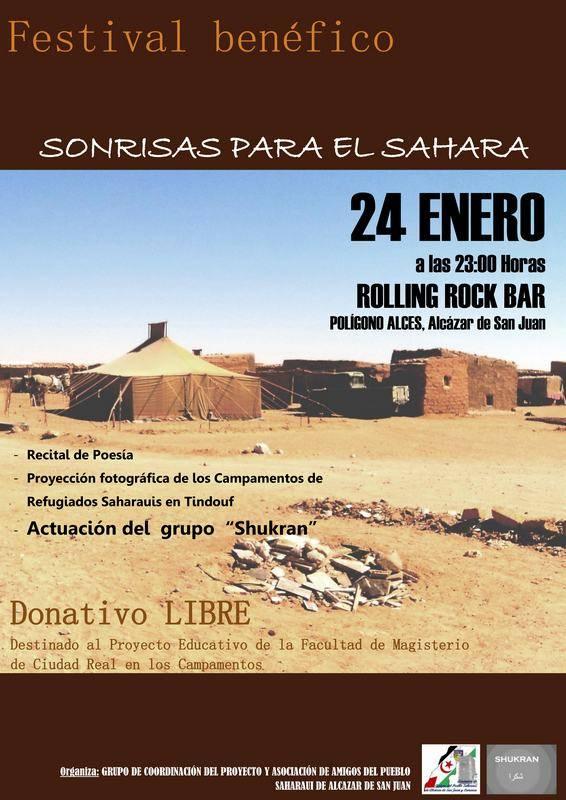 cartel festival sonrisas para el sahara - Un festival benéfico busca sonrisas para el Sáhara