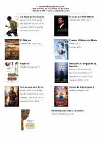cartelera de cinemancha del 24 al 30 de enero