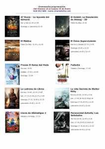 cartelera de muilticines cinemancha del 10 al 16 de enero
