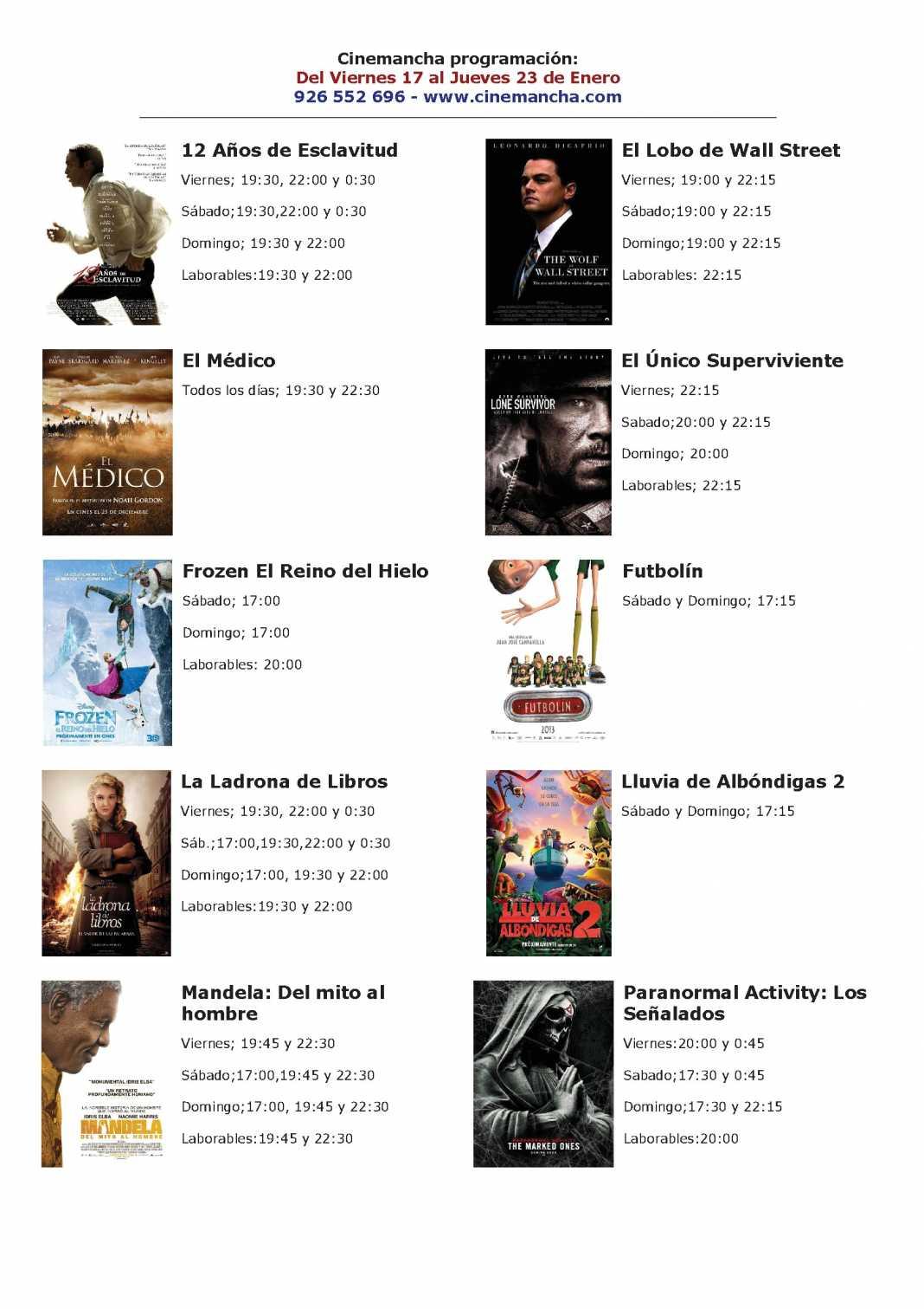 cartelera de multicines cinemancha del 17 al 23 de enero 1068x1511 - Programación Cinemancha del 17 al 23 de enero