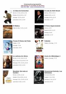 cartelera de multicines cinemancha del 17 al 23 de enero