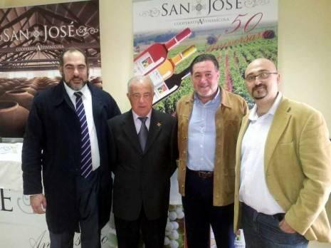 Jesús Fernández junto a Eugenio Díaz-Pavon, José Luis García Peñuelas y Ángel Ortega