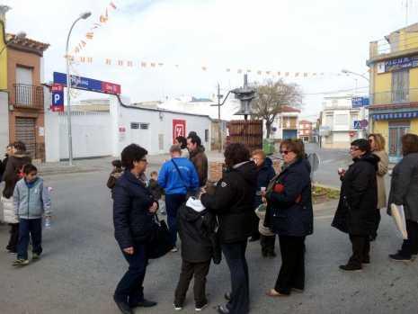 herencia san anton rotonda inaugura tres 465x349 - Inauguración oficial de la rotonda del barrio de San Antón