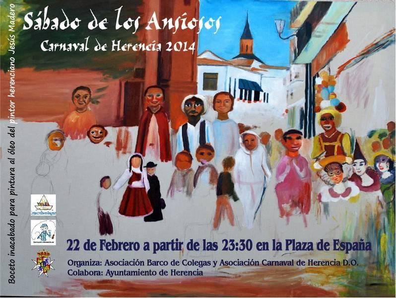 """Carnaval Herencia Cartel Sabado de los Ansiosos 20141 - El cartel del Sábado de los Ansiosos 2014, un homenaje a """"Jesús Madero""""."""