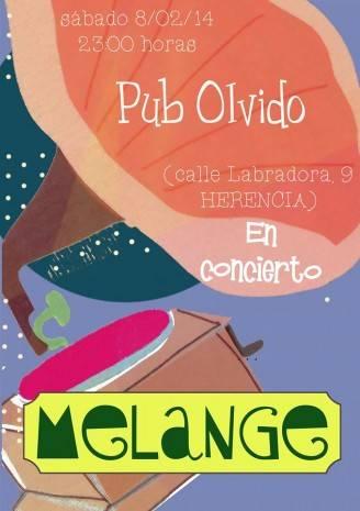 Concierto Olvido 328x465 - Mélange en concierto en el pub Olvido