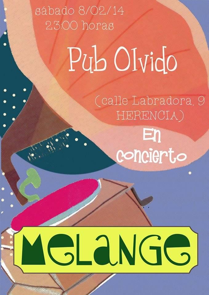 Concierto de Mélange en Pub Olvido de Herencia