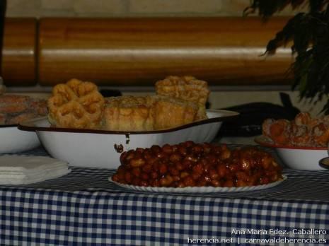 Algunos de los productos gastronómicos del Carnaval de Herencia