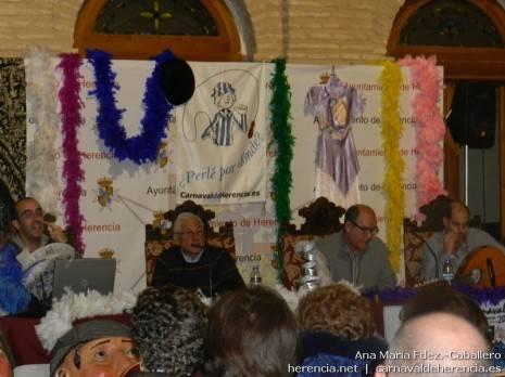 Ponentes de la conferencia sobre música y coplillas del Carnaval de Herencia
