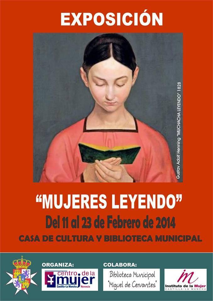 """Exposición Mujeres leyendo - """"Mujeres leyendo"""" es la exposición que estos días acoge la casa de cultura de Herencia"""