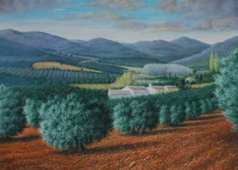 Paisaje de olivos de Jesús Madero