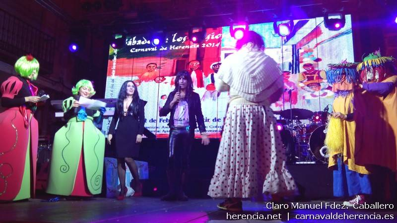 Presentación del Sábado de los Ansiosos 2014 del Carnaval de Herencia