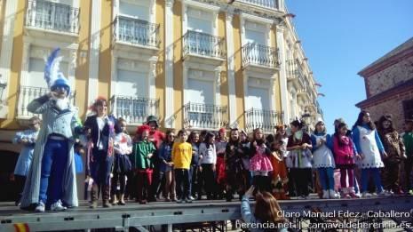 Flashmob y festival de coreografías del Domingo de las Deseosas del Carnaval de Herencia 2014