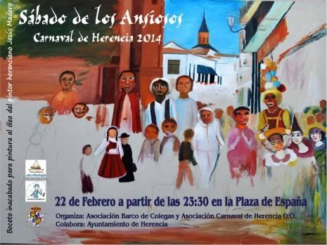 cartel madero sabado ansiosos 465x349 -  Ansiosos y Deseosas, preparados para dar la bienvenida al Carnaval de Herencia, de Interés Turístico Regional